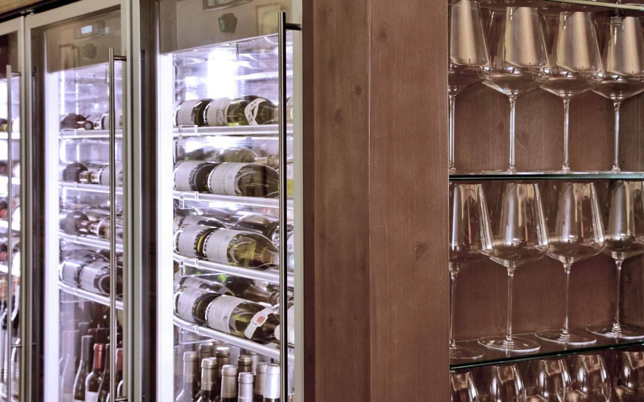 wine cellar in restaurant lascaux