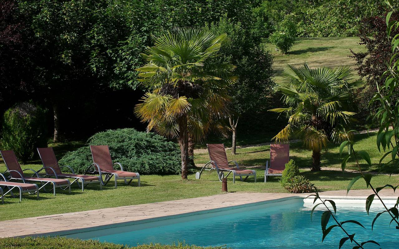 swimming pool charming hotel perigord