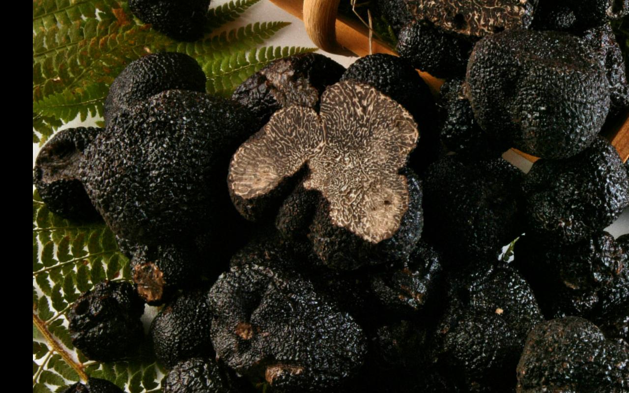 basket of truffles restaurant perigord