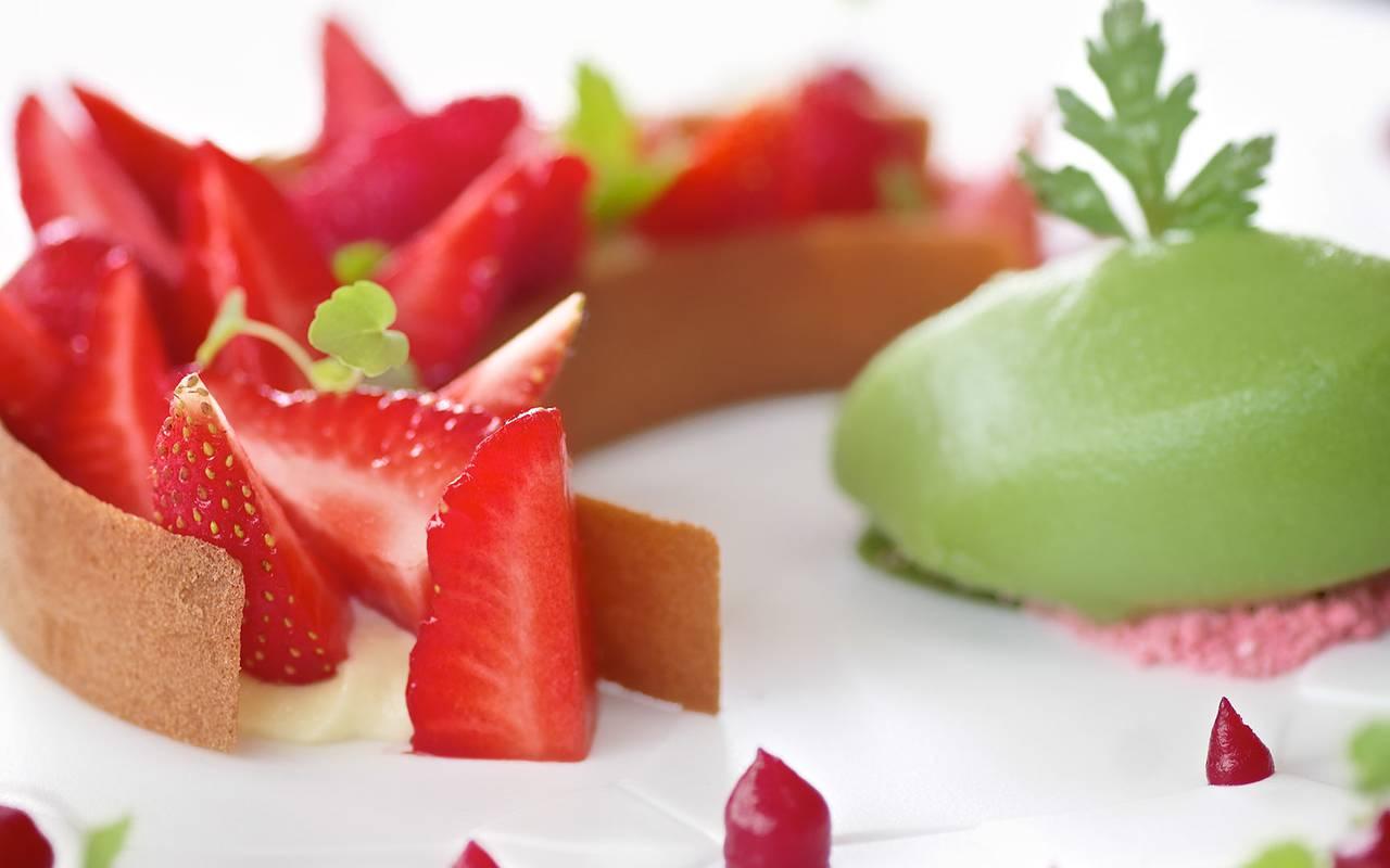 tarte aux fraises restaurant gastronomique sarlat
