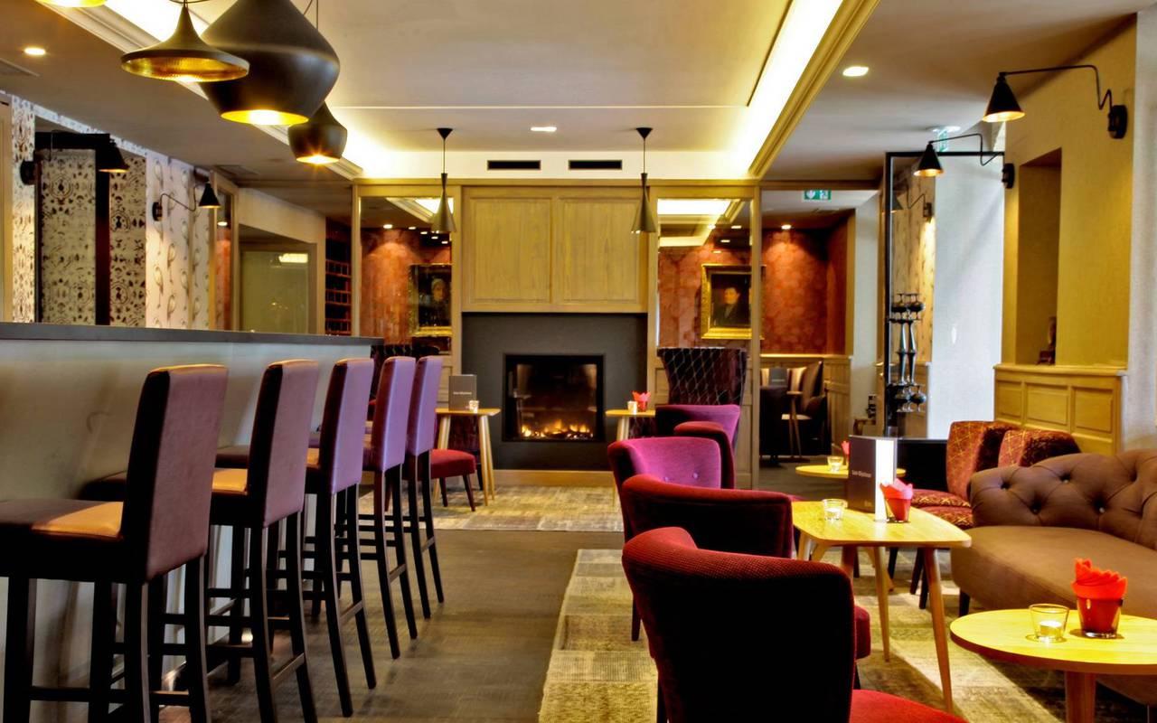 salon du bar dans hotel restaurant perigord noir